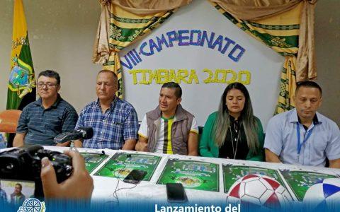lanzamiento del VIII Campeonato de FutSala Tumbara 2020